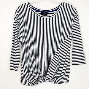 Anthropologie | Striped knot front top
